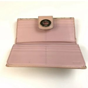 Coach Bags - Coach Wallet Bifold Turnlock Signature Beige Pink